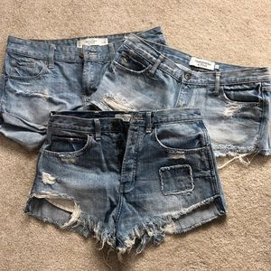 Size 2 Abercrombie and Fitch denim shorts